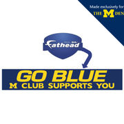 Fathead University of Michigan M Club Go Blue Banner Wall Graphic 24 x 4