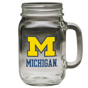 RFSJ University of Michigan Handled Mason Jar