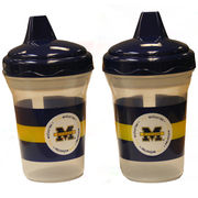 University of Michigan 2 Pack Spill Proof Sippy Cups