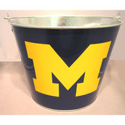 University of Michigan 5 Quart Metal Ice Bucket