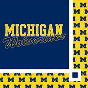 Stockdale University of Michigan 2-Ply Beverage Napkins
