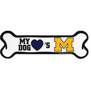 All Star Dogs University of Michigan My Dog Loves Michigan Bone Magnet