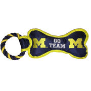 Pet Goods University of Michigan Rope Bone Toy