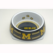 Large University of Michigan Dog Bowl