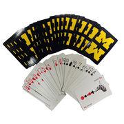 McCloud University of Michigan Navy Playing Cards