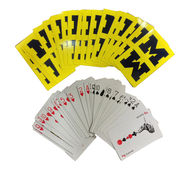 MCM University of Michigan Yellow Playing Cards