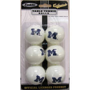 Franklin University of Michigan Set of Six Ping Pong Balls