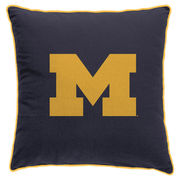 League Outfitters University of Michigan Varsity Block M 22x22 Pillow