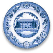 Classic Collegiate China University of Michigan Hatcher Library Plate