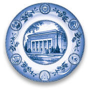 Classic Collegiate China University of Michigan Hill Auditorium Plate