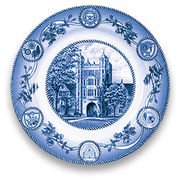 Classic Collegiate China University of Michigan Law Quadrangle Plate
