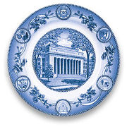 Classic Collegiate China University of Michigan Angell Hall Plate