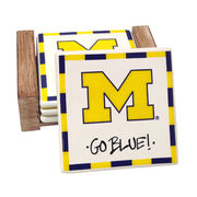 Magnolia Lane Pottery University of Michigan Coasters