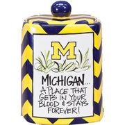Magnolia Lane University of Michigan Pottery Canister/ Cookie Jar