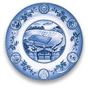 Classic Collegiate China University of Michigan Stadium (Circa 1990) Plate