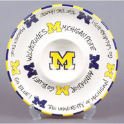 Magnolia Lane University of Michigan Chip and Dip Pottery Set