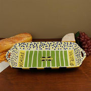 Magnolia Lane University of Michigan Stadium Pottery Platter