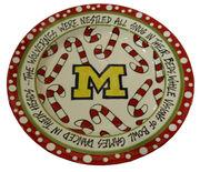 Magnolia Lane Pottery University of Michigan Christmas Plate
