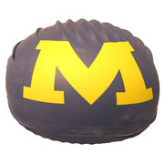 Swim Cap Navy Block M Michigan