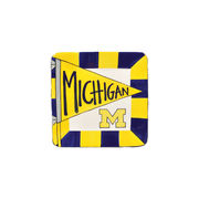Magnolia Lane Pottery University of Michigan Small Square Plate