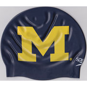 Speedo University of Michigan Swimming Navy Split M Silicone Swim Cap