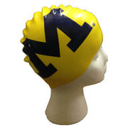 Speedo University of Michigan Swimming Yellow Block M Silicone Swim Cap