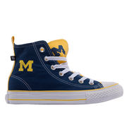 Skicks University of Michigan WOMEN'S Colorblock High-Top Sneakers