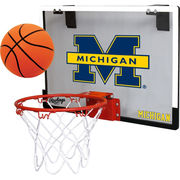 Rawlings University of Michigan Basketball Game On Backboard Hoop Set