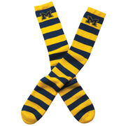 FBF University of Michigan Rugby Striped Tube Sock