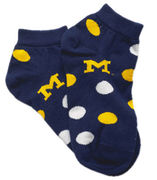 Navy Michigan Polka Dot Socks