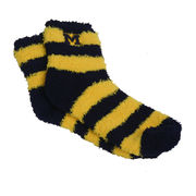 FBF University of Michigan Striped Cozy Socks