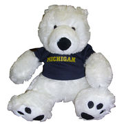 Chelsea Teddy Bear Co. University of Michigan Polar Bear Stuffed Animal