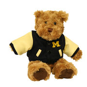 Chelsea Teddy Bear Co. University of Michigan Letter Jacket Teddy Bear