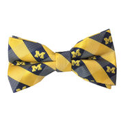 Eagles Wings University of Michigan Woven Check Pre-Tied Bow Tie