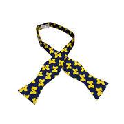 Jardine University of Michigan Navy All Over Block M Bow Tie