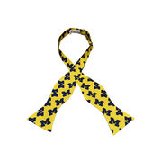 Jardine University of Michigan Yellow All Over Block M Bow Tie