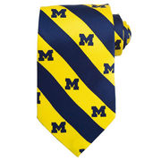 Varsity Vest University of Michigan Logo Stripe Tie