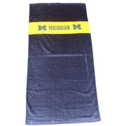 Beach Duds University of Michigan Plush Oversized Rugby Beach Towel