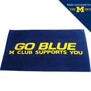 University of Michigan M Club Go Blue Banner Beach Towel