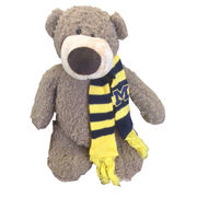 Plushland University of Michigan Archie Teddy Bear with Scarf