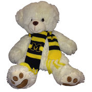 Mascot Factory University of Michigan Marshmallow Teddy Bear with Scarf