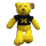 Chelsea Teddy Bear Co. University of Michigan Tropical Banana Yellow Bear