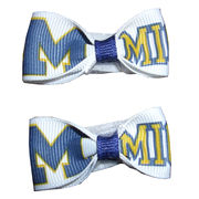 Divine Creations University of Michigan Baby Velcro Barrettes