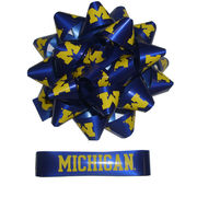 Spirit Products University of Michigan Gift Wrap Bow and Ribbon Set
