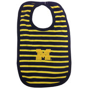 Two Feet Ahead University of Michigan Striped Baby Bib