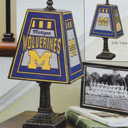 Memory Company University of Michigan Art Glass Table Lamp