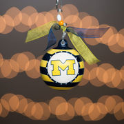 Glory Haus University of Michigan Striped Christmas Ornament