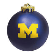 MCM University of Michigan Navy Block M Shatterproof Ornament