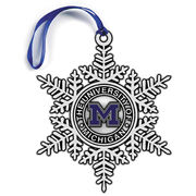 Pewter Snowflake Michigan Ornament