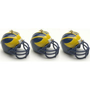 Memory Company University of Michigan Football Helmet Ornaments (3pk)
